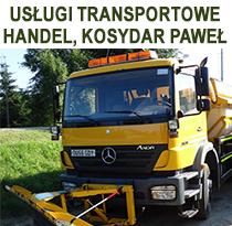 USŁUGI TRANSPORTOWE - HANDEL, Kosydar Paweł